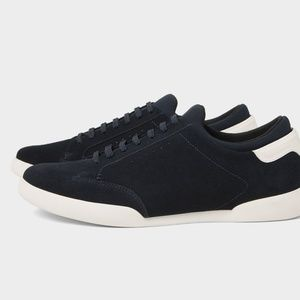Zara Shoes - BLUE LEATHER SNEAKERS